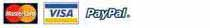 Paypal Visa MasterCard Discover American Express